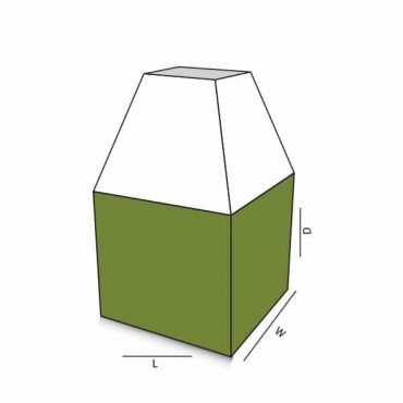 Square Box With Ladder Top